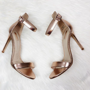 [TOPSHOP] Tina Rose Gold Ankle Strap Heels
